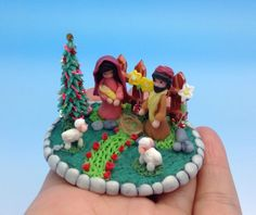 Miniature nativity.