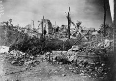 14 September 1916: Ruins of the church in the village of Assevillers