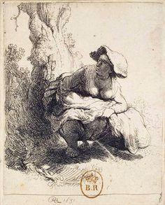 Rembrandt woman pissing