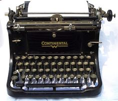 Lovingly restored Continental Typewriter-just like my FIL! Old Fashioned Typewriter, Antique Typewriter, Algonquin Round Table, Life Cycle Stages, Learn To Type, Vintage Typewriters, Vintage Cameras, Personal Taste, Online Entrepreneur