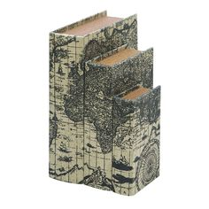 _For anyone who loves to travel the world, these book boxes are perfectly suited hold all your secret items.