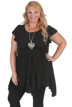 Long length hanky hem tunic from #Curvaceousclothing# #plussize# #top# Sizes 18 to 28