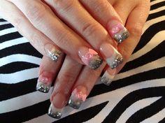 50 Shades of Grey..and Pink by dcgroves - Nail Art Gallery nailartgallery.nailsmag.com by Nails Magazine www.nailsmag.com #nailart