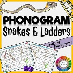 Spalding Phonogram Game - Snakes and Ladders! Practice all the 70 phonograms in a fun and engaging way!