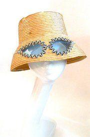 60s sunglass hat | http://1960sfashionstyle.com/