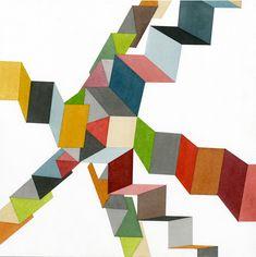 Upstairs by Joe Kievitt (ink on paper)