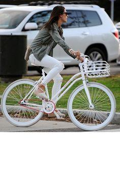 Celebs Who Bike in Style - Alessandra Ambrosio