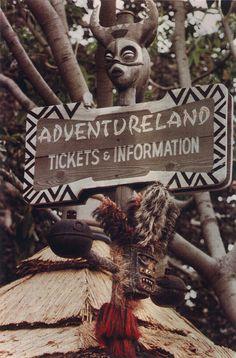 Disneyland Adventureland Ticket Signs, 1960s by Miehana, via Flickr