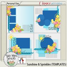 Sunshine & Sprinkles TEMPLATES 35% off; http://store.gingerscraps.net/Sunshine-and-Sprinkles-TEMPLATES.html. 19/04/2013