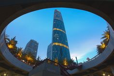 Guangdong International Financial Centre, Guangzhou (GZIFC) Guangzhou International Finance Centre or Guangzhou West Tower, is a 103-storey, 438.6 m skyscraper at Zhujiang Avenue West in the Tianhe District of Guangzhou, Guangdong, China. The building was topped out at the end of 2008