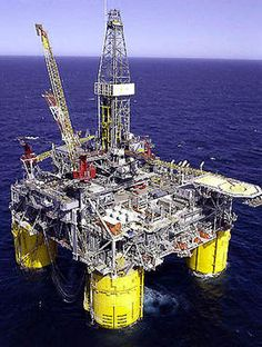 Offshore Oil Rig, my husband is the hardest working man I know, so thankful that we found our back back together and happily married.