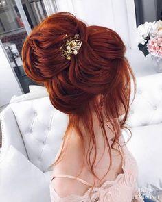 60 Elstile Wedding Updos Hairstyles You'll Love Hair art – Hair Models-Hair Styles Redhead Hairstyles, Bride Hairstyles, Pretty Hairstyles, Wedding Hair And Makeup, Bridal Hair, Hair Makeup, Wedding Beauty, Eye Makeup, Hot Hair Styles