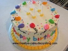 A birthday bash cake idea - Here is an interesting birthday cake decorating idea