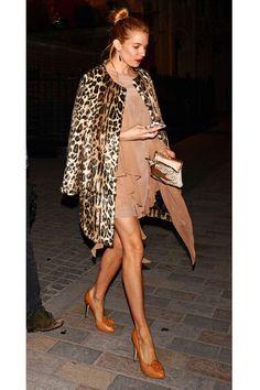 Sienna Miller Street Style: Nude & Leopard