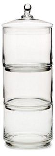 """20"""" 3-Tier Glass Canister"""