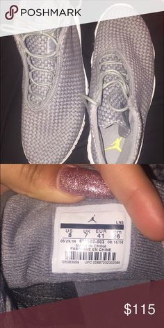 Grey Jordan futures Size 8 in men. Size 9.5 in women. Great condition!!      Open to offers TAGS: NIKE ADIDAS UNDERARMOR CONVERSE VANS PUMA Jordan Shoes Sneakers