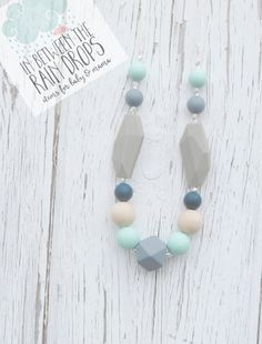 Teething Necklace/ Silicone Beads Silicone Teething/ Nursing Necklace/Breastfeeding/Tula Accessorry/ Baby Shower/ Gift/ New Mom/