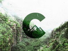 C Logo / Mark / Mountains by Teodor Decu in Logo design Mountain Images, Mountain Logos, Corporate Design, Berg Logos, Peak Logo, Nature Letters, Outdoor Logos, City Logo, Badge Design