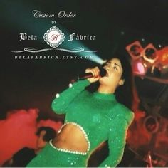 Custom Order, Miniature Replica, Celebrity Dress, Selena Quintanilla, Green Outfit, Barbie, Dollhouse, 1/6 Scale, Keepsake, Gift by BelaFabrica on Etsy