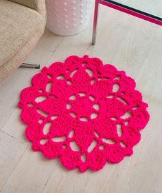 Pretty in Pink Rug Crochet Pattern | Red Heart freebie, thanks so! xox