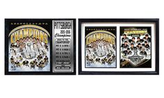 Pittsburgh Penguins Stanley Cup Champions Stat Plaque or Double-Photo Frame