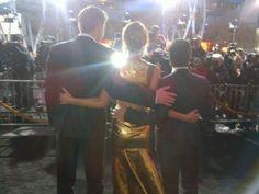 Hunger Games. Liam Hemsworth, Jennifer Lawrence, Josh Hutcherson, the benefits of being shorter