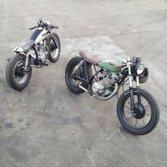 "motomood: ""Yamaha SR cafe racers """