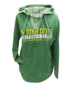 9bd27091a John Deere Green  I Love John Deere  V-Neck Hoodie by eddie Rustic