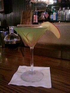 caramel appletini - 1 oz shakka apple 1 0z vanilla vodka 1 oz monin carmel liquid carmel sysrup on bottom of glass apple juice enough to fill the glass when mixed with the other 3 ingredients