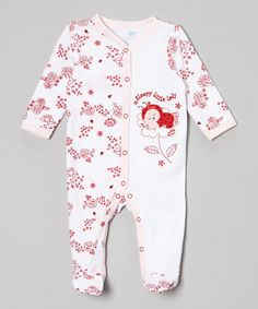 Look what I found on #zulily! White & Pink 'Sleepy Little Lady' Ladybug Footie - Infant by Vitamins Baby #zulilyfinds
