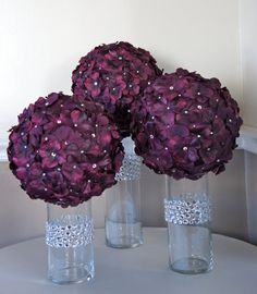Wedding simple centerpieces diy flower ball for 2019 Purple Wedding, Trendy Wedding, Diy Wedding, Wedding Flowers, Dream Wedding, Wedding Day, Wedding Pins, Wedding Simple, Hydrangea Flower