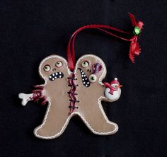 Hey, I found this really awesome Etsy listing at https://www.etsy.com/listing/203665220/zombie-siamese-twins-gingerbread-men