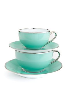 Limoges love. Awesome dining collection :) I want all tiffany blue & silver kitchen stuff!