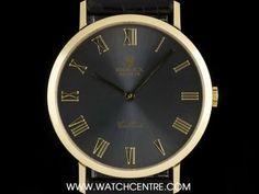 #Rolex 18k Yellow Gold Grey Roman Dial #Cellini Gents #Wristwatch B&P #4112 Rolex Cellini, Used Rolex, Business Dresses, Rolex Watches, Roman, Clock, Yellow, Grey, Watch