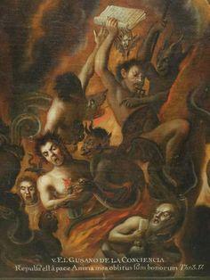Anonymous artist, Las Penas del Infierno (Penances of Hell), XVIIIth century
