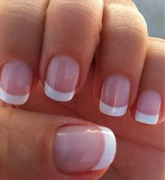 Gel French manicure by Tu. Gel French manicure by Tu. Gel French manicure by Tu. French Manicure Nails, My Nails, Manicure Ideas, Gel Manicures, Cnd Shellac, French Toe Nails, French Tip Acrylic Nails, Short Nail Manicure, Gel French Manicure
