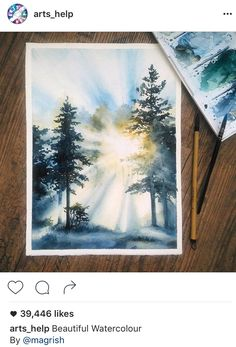 how to draw smile Watercolor Landscape, Landscape Paintings, Watercolor Paintings, Watercolors, Oil Paintings, Guache, Art Graphique, Watercolor Illustration, Painting Illustrations