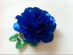 Diy Lace Ribbon Flowers, Cloth Flowers, Kanzashi Flowers, Diy Ribbon, Ribbon Crafts, Fabric Flowers, Paper Flowers, Rose Video, Flower Video