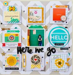 Something From Cassie: Here We Go Paper Issues Sketch Layout Scrapbook Sketches, Scrapbook Page Layouts, Scrapbook Cards, Scrapbooking Ideas, Digital Scrapbooking, Pocket Letters, Layout Inspiration, Scrapbooks, Mini Albums
