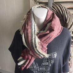 Hammam sjaal (bordeaux/zwart)