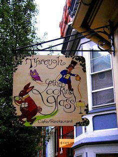 A Wonderland Sign  I photographed this image during the Fall in Jim Thorpe, Pa, where I was doing an art show called: The Halloween Opera. After setting up, I went around the town with my mom exploring. Jim Thorpe is a great place to explore. After I downloaded my images, I decided to alter them and bring out the magic and enchantment, I saw when I took the picture. Lisa Kettell
