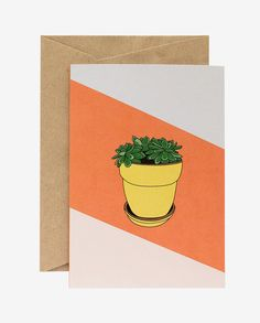 Succulent Card Warm Colors, Colours, Colorful Succulents, Hand Illustration, Gift Tags, Greeting Cards, Paper, Prints, Inspiration