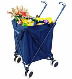 Amazon.com - Folding Shopping Cart - Versacart Utility Cart - Transport Up to 120 Pounds (Water-Resistant Heavy Duty Canvas) - Kitchen Stora...