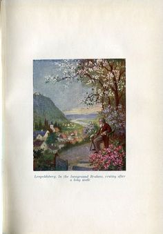 """Johannes Brahms (1833-1897), painting (1927), by Rudolf Klingsbögl (1881-1943). Published in """"Vienna's Musical Sites and Landmarks"""", facing page 6."""