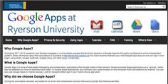 Google Apps @ Ryerson... Why Google Chat and Google Voice are Not Available Google Voice, Collaboration, Calendar, Apps, App, Life Planner, Appliques
