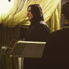 """2009 - Alan Rickman as Professor Severus Snape on the set of """"Harry Potter and the Half Blood Prince."""