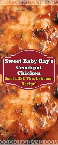 Sweet Baby Ray's Crockpot Chicken Slow Cooker Huhn, Slow Cooker Recipes, Crockpot Recipes, Cooking Recipes, Meat Recipes, Crockpot Dishes, Crock Pot Cooking, Dinner Crockpot, Baked Chicken Recipes