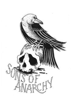 Sons of Anarchy Art Print by Christiano Mere Sons Of Anarchy Tattoos, Sons Of Anarchy Samcro, Sons Of Arnachy, Sons Of Anarchy Motorcycles, Angels Logo, Tattoo Project, Colouring Pics, Motorcycle Art, Image Manga