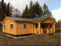 1247 sq ft 7 room DIY Log Cabin Home building Kit with 118 sq ft covered porch Diy Log Cabin, Log Cabin Homes, Log Cabin Kits, Barn Homes, Home Building Kits, Building A House, Building Design, Prefab Homes, Modular Homes