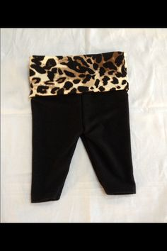 Adorable baby girl cheetah yoga pants size 9-12 months on Etsy, $17.00